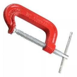 Grampo Tipo C 04 Pol Vermelho Gc033 Metalsul