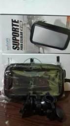 Suporte moto para celulares,GPS com proteção contra chuva sensível ao toque novos na caixa