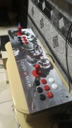 Fliperama arcade novo com 9000 jogos e 1 controle de ps3