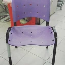 Cadeira empilhável anatômica lilás - loja
