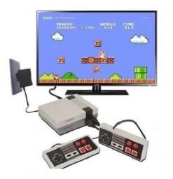 R$199,90 - Vídeo Game Retro Eony Com 3000 Jogos + 2 Controles Usb