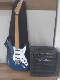 Guitarra com amplificador nunca usados