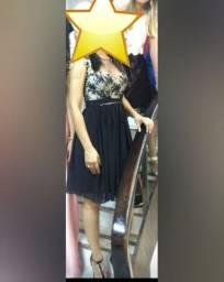 Vestido de festa curto - Preto