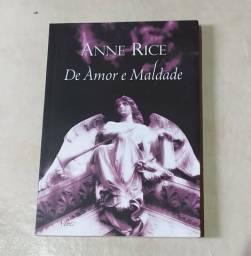 """Livro usado """"De amor e maldade"""""""