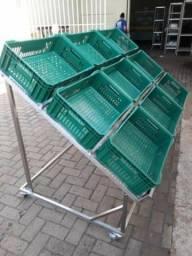 Expositor desmontável , estrutura de Inox 304