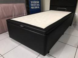 Base Box Baú Solteiro 100% Eucalipto - Alta Qualidade!