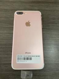 IPhone 7 Plus 128 ROSE Saúde Bateria 98% GARANTIA Parcelo no Cartão