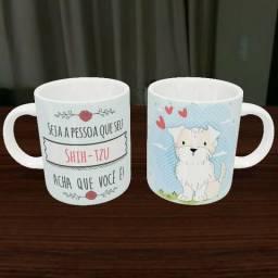 Caneca Cachorro Shih-tzu Cachorros Porcelana 325ml #1300 Anisz Fwipv