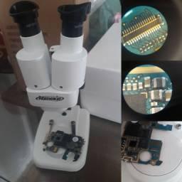 Microscópio até 20x binocular assistência técnica