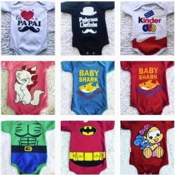 Body infantil para meninos e meninas