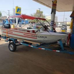 Barco motor 25hp + carretinha legalizada