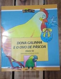 Livro Dona galinha e o ovo de Páscoa