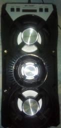 Caixa amplificada Bluetooth com 3 alto falantes