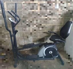 Bicicleta elíptico magnético 2 em 1