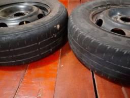 Vendo 2 rodas de ferro com peneos aro 13