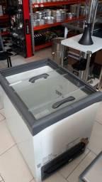 Freezer tampa de vidro 220l