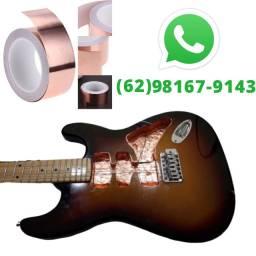 Fita de Cobre Blindagem Baixo Guitarra Anti Ruído fita condutiva Adesiva