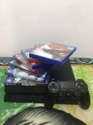 Ps4 500 GB + jogos