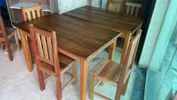 Título do anúncio: Mesa com 4 cadeiras nova.