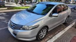 Honda City EX 2010, Prata, Único Dono