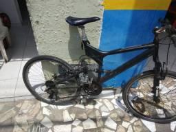 Bike aro 26 com suspensão 21 marchas