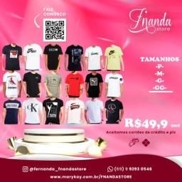 Título do anúncio: Camisetas Masculinas de primeira linha e diversas estapas.