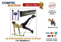 Kit Barra De Pilates Portátil Exercício Casa Pernas Glúteos