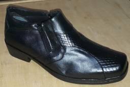 1/2 botas em couro legítimo