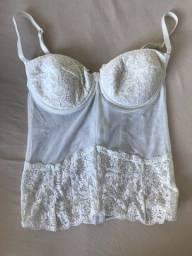 Corpete branco novo   lingerie