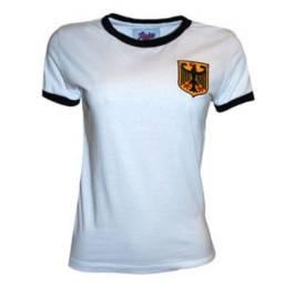 Título do anúncio: Camisa Alemanha 1974 Feminina Retrô