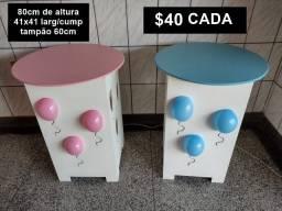 Vendo mesas de cubo em MDF