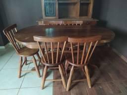 Vendo jogo de jantar madeira