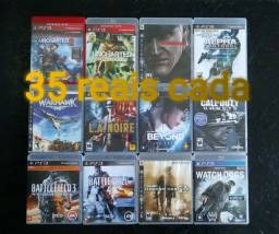 Jogos usados de PlayStation 3.