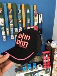 Boné John John rosa, com redinha e regulagem!