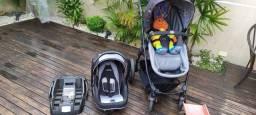 Carrinho bebê kiddo, Moisés, bebê conforto e base  para auto
