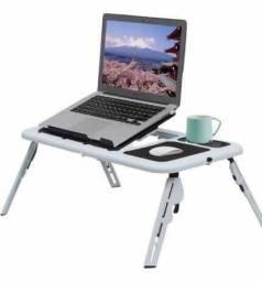 Título do anúncio: Mesa Suporte P/ Notebook C/ Cooler Mousepad Porta Copos e Ajuste de Níveis
