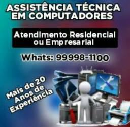 Assistência técnica de PC e peças/ substituição em Computadores em residência ou empresa