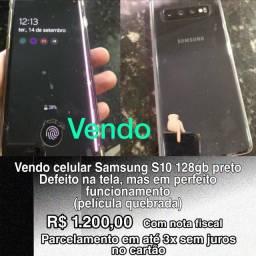 Título do anúncio: Samsung Galaxy S10 128 GB Preto