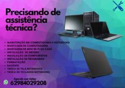 Formatação, montagem e manutenção - PC e Notebooks