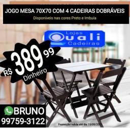 Título do anúncio: Mesas de Madeira Direto da fábrica Quali Cadeiras