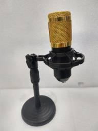Título do anúncio: Microfone condensador c/ suporte