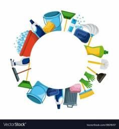 Título do anúncio: Faço  limpeza em casa ou apartamento