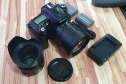 Nikon D90 DX 12.9 Mpixels + 2 objetivas