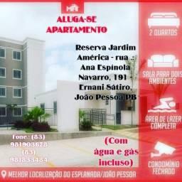 Aluga-se apartamento em João Pessoa, bairro esplanada com gás e água incluso no aluguel