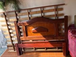 Título do anúncio: Cama de madeira com colchão