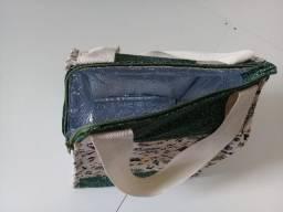 Bolsa/lancheira em patchaplique artesanal: estampa Halloween