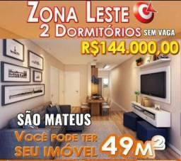 Apartamento em obras de 49m² 144 mil 2 Dorms