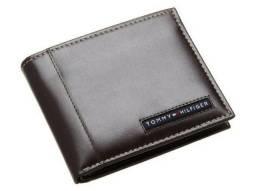 Carteira Original Tommy Hilfiger Modelo 063 Passcase 100% Couro Marrom Excelente Estado!
