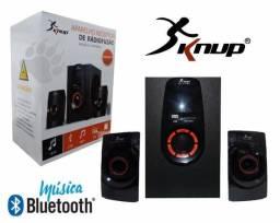 Caixa de Som com Amplificador Bluetooth e Subwoofer 5.1