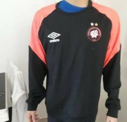 Blusa do clube athlético paranaense (cap) tamanho g unissex preta com laranja
